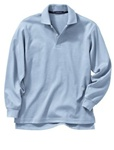 Wholesale Girls Long Sleeve School Uniform Polo Shirt Light Blue