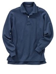 Wholesale Girls Long Sleeve School Uniform Polo Shirt Navy Blue