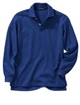 Wholesale Girls Long Sleeve School Uniform Polo Shirt Royal Blue