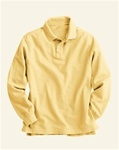 Wholesale Girls Long Sleeve School Uniform Polo Shirt Yellow