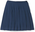 Wholesale Girl's School Uniform Pleated Skirt in Navy Blue