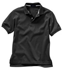 Wholesale Girls Short Sleeve School Uniform Polo Shirt Black
