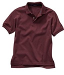 Wholesale Girls Short Sleeve School Uniform Polo Shirt Burgundy