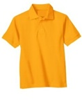 Wholesale Girls Short Sleeve School Uniform Polo Shirt Gold
