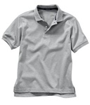 Wholesale Girls Short Sleeve School Uniform Polo Shirt Heather Grey