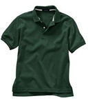 Wholesale Girls Short Sleeve School Uniform Polo Shirt Hunter Green