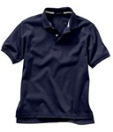 Wholesale Girls Short Sleeve School Uniform Polo Shirt Navy Blue