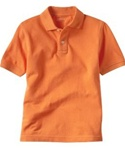 Wholesale Girls Short Sleeve School Uniform Polo Shirt Orange