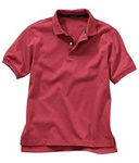 Wholesale Girls Short Sleeve School Uniform Polo Shirt Red