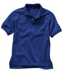 Wholesale Girls Short Sleeve School Uniform Polo Shirt Royal Blue