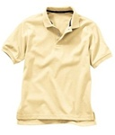 Wholesale Girls Short Sleeve School Uniform Polo Shirt Yellow
