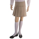 Wholesale Girl's School Uniform Scooter Skirt in Khaki
