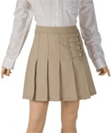 Wholesale Girl's School Uniform Skort in Khaki