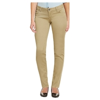 Wholesale Girl's School Uniform Super Stretch Skinny Pants in Khaki
