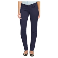Wholesale Girl's School Uniform Super Stretch Skinny Pants in Navy