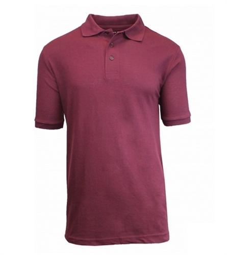 Wholesale husky short sleeve school uniform polo shirt in Burgundy polo shirt boys