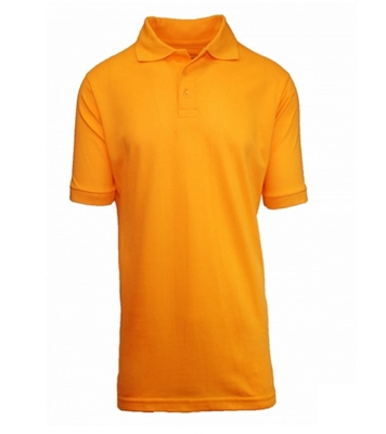 Wholesale Husky Short Sleeve School Uniform Polo Shirt in Gold