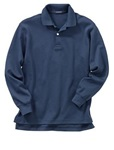 Wholesale Childrens Long Sleeve School Uniform Polo Shirt Navy