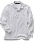Wholesale Childrens Long Sleeve School Uniform Polo Shirt White