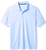 Wholesale Men's Dri Fit Performance Short Sleeve School Uniform Polo Shirt Light Blue