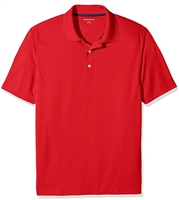 Wholesale Men's Dri Fit Performance Short Sleeve School Uniform Polo Shirt Red