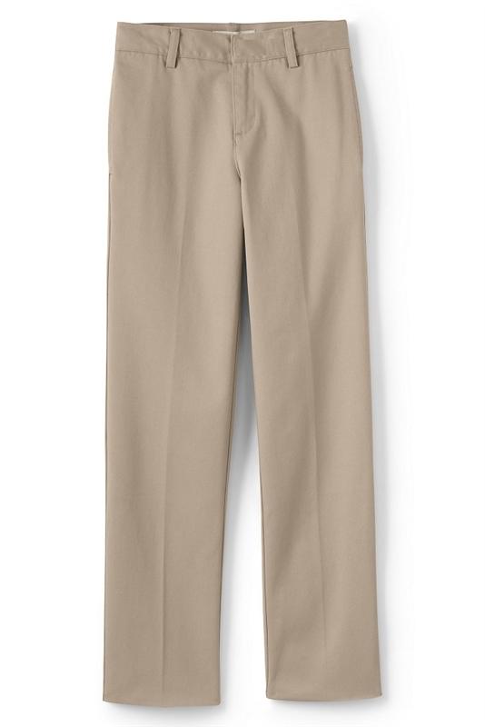 29e1f4c2bdc Young Men s School Uniform Twill Flat Front Pants in Khaki