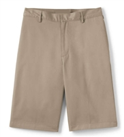 wholesale mens Flat Front school shorts khaki