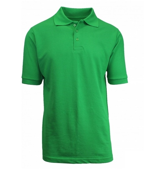 ec0bb45d7ccc Wholesale Childrens Short Sleeve School Uniform Polo Shirt Kelly Green