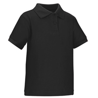 Wholesale Toddler Short Sleeve School Uniform Polo Shirt Black