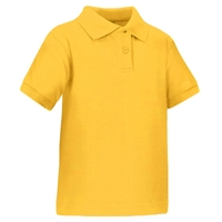 Wholesale Toddler Short Sleeve School Uniform Polo Shirt Gold