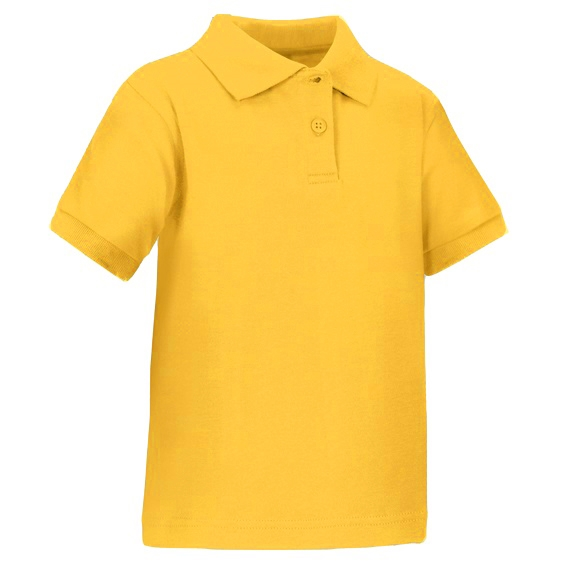 c0249263f Wholesale Toddler Short Sleeve School Uniform Polo Shirt Gold