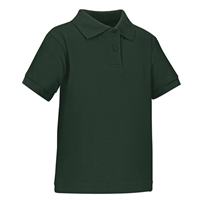 Wholesale Toddler Short Sleeve School Uniform Polo Shirt Hunter Green