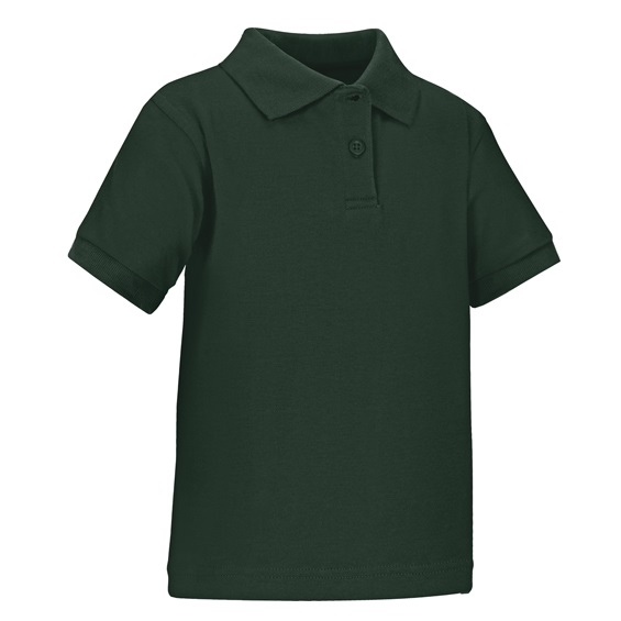 9d14f49e7 Wholesale Toddler Short Sleeve School Uniform Polo Shirt Hunter Green