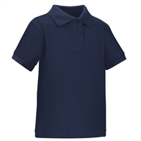 Wholesale Toddler Short Sleeve School Uniform Polo Shirt Navy Blue by size