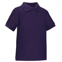 Wholesale Toddler Short Sleeve School Uniform Polo Shirt Purple
