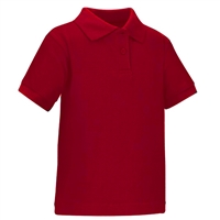 Wholesale Toddler Short Sleeve School Uniform Polo Shirt Red by size