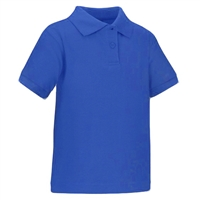 Wholesale Toddler Short Sleeve School Uniform Polo Shirt Royal Blue
