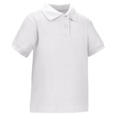 Wholesale toddler short sleeve school uniform polo shirt white for Short sleeve school shirts