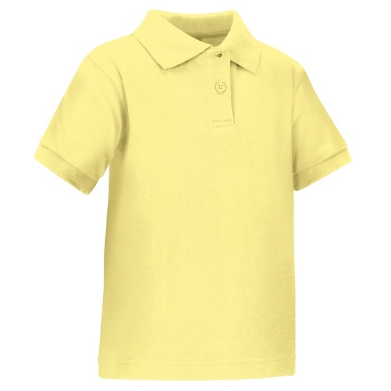 0edeb5216 Wholesale Toddler Short Sleeve School Uniform Polo Shirt Yellow